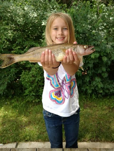 Kiera with her first Sauger